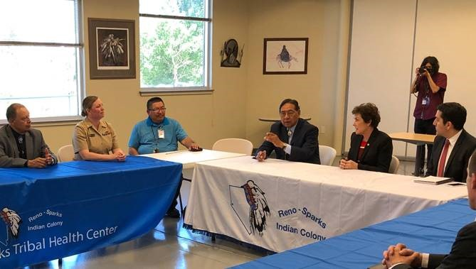 Senator Jacky Rosen (D-NV) visited the Reno-Sparks Indian Colony's Tribal Health Center and met with the staff to discuss the need to protect the constitutionality of the Affordable Care Act (ACA) in court